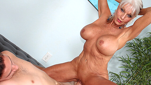 Grandma.. big tits blonde mature